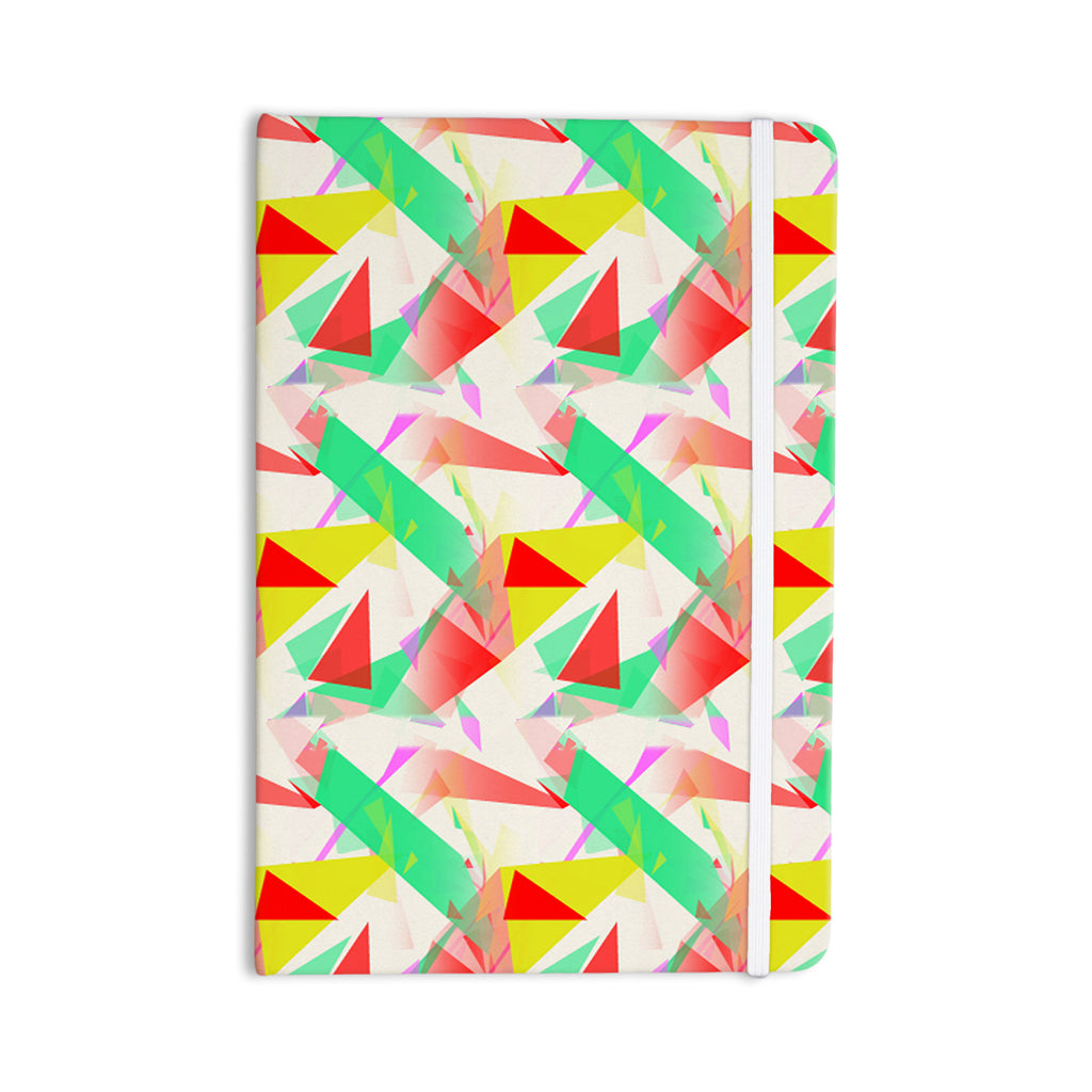 "Alison Coxon ""Confetti Triangles Red"" Green Red Everything Notebook - KESS InHouse  - 1"