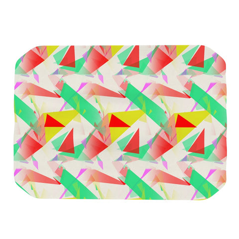 "Alison Coxon ""Confetti Triangles Red"" Green Red Place Mat - KESS InHouse"