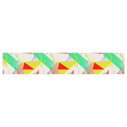 "Alison Coxon ""Confetti Triangles Red"" Green Red Table Runner - KESS InHouse  - 1"