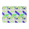 "Alison Coxon ""Confetti Triangles Blue"" Green Teal Memory Foam Bath Mat - KESS InHouse"