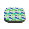 "Alison Coxon ""Confetti Triangles Blue"" Green Teal Coasters (Set of 4)"