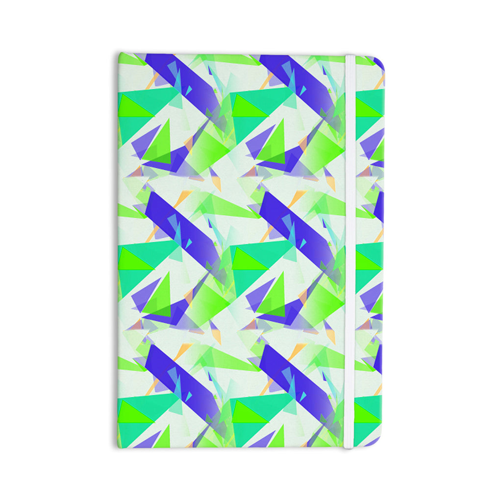 "Alison Coxon ""Confetti Triangles Blue"" Green Teal Everything Notebook - KESS InHouse  - 1"