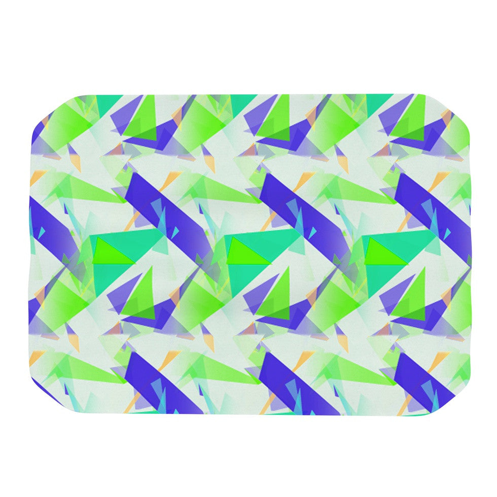 "Alison Coxon ""Confetti Triangles Blue"" Green Teal Place Mat - KESS InHouse"