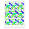 "Alison Coxon ""Confetti Triangles Blue"" Green Teal Fine Art Gallery Print - KESS InHouse"