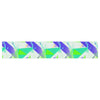 "Alison Coxon ""Confetti Triangles Blue"" Green Teal Table Runner - KESS InHouse  - 1"