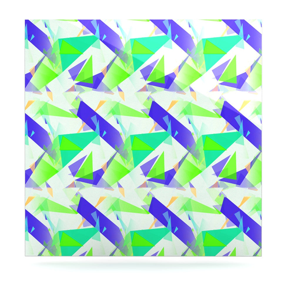"Alison Coxon ""Confetti Triangles Blue"" Green Teal Luxe Square Panel - KESS InHouse  - 1"