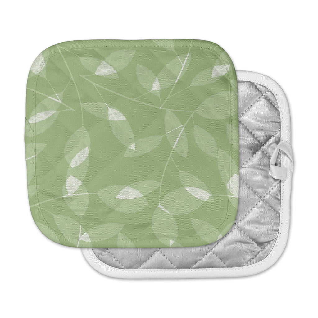 "Alison Coxon ""Leaf Olive"" Green Pot Holder"