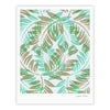 "Alison Coxon ""Winter Fern"" Green Teal Fine Art Gallery Print - KESS InHouse"