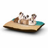 "Alison Coxon ""Rise With The Tide"" Teal Brown Dog Bed - KESS InHouse  - 1"