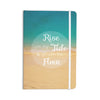 "Alison Coxon ""Rise With The Tide"" Teal Brown Everything Notebook - KESS InHouse  - 1"