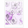 "Alison Coxon ""Painted Wild Roses Purple"" Pink Floral Fine Art Gallery Print - KESS InHouse"
