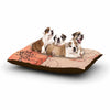"Alison Coxon ""Painted Wild Roses"" Coral Floral Dog Bed - KESS InHouse  - 1"