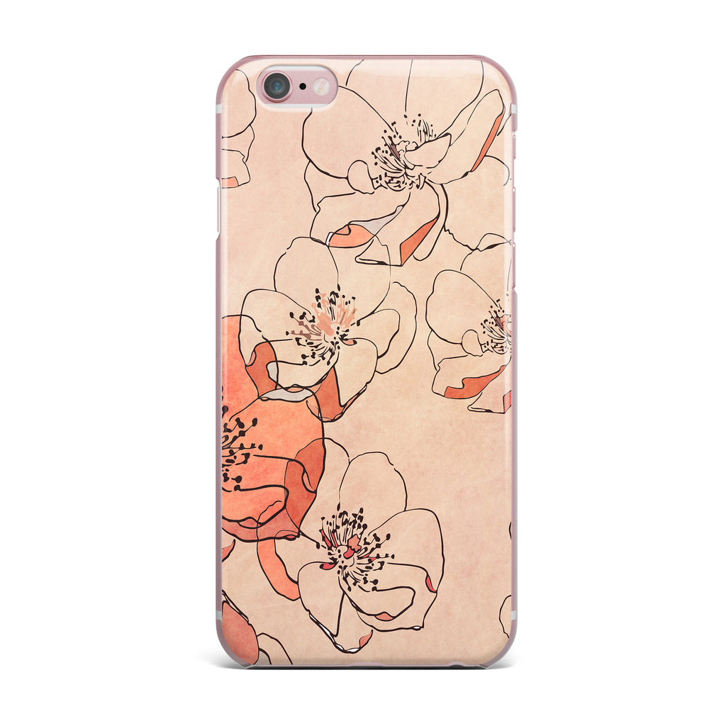 "Alison Coxon ""Painted Wild Roses"" Coral Floral iPhone Case - KESS InHouse"