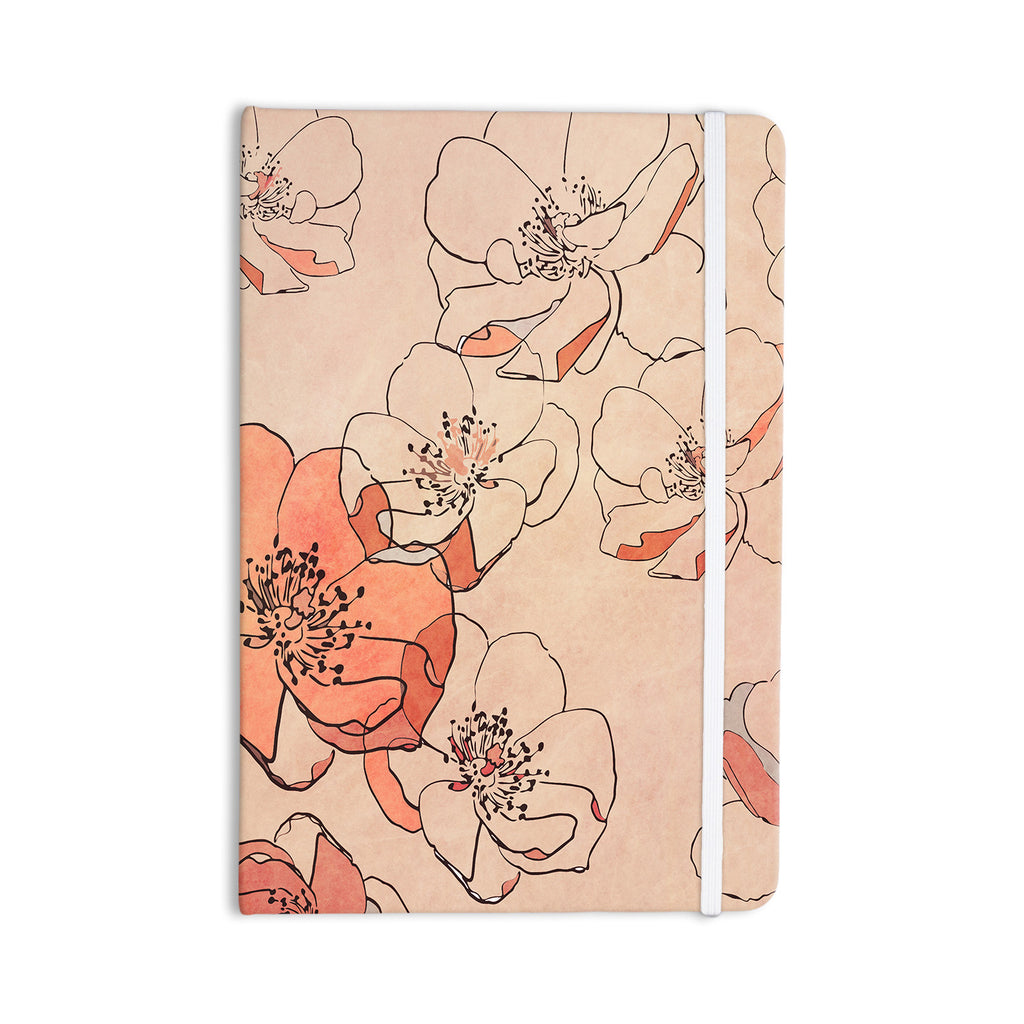 "Alison Coxon ""Painted Wild Roses"" Coral Floral Everything Notebook - KESS InHouse  - 1"