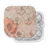 "Alison Coxon ""Painted Wild Roses"" Coral Floral Pot Holder"