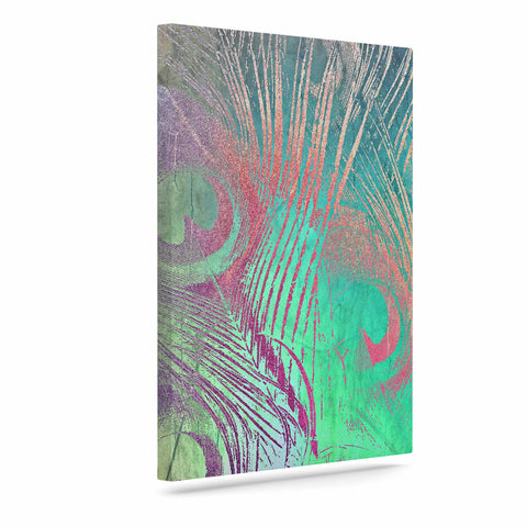 "Alison Coxon "" Indian Summer"" Purple Teal Abstract Canvas Art - Outlet Item"