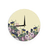 "Alison Coxon ""Polka Dot"" Purple Yellow Wall Clock - KESS InHouse"