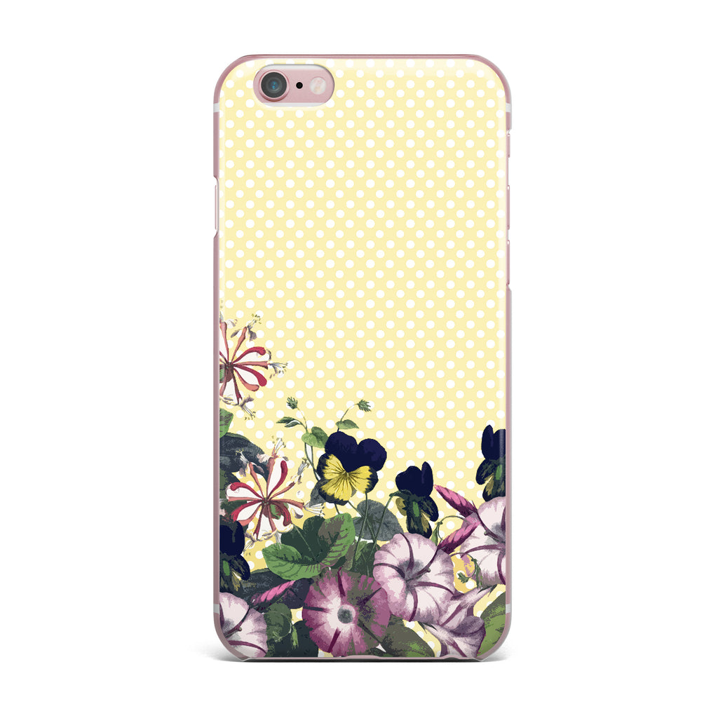 "Alison Coxon ""Polka Dot"" Purple Yellow iPhone Case - KESS InHouse"