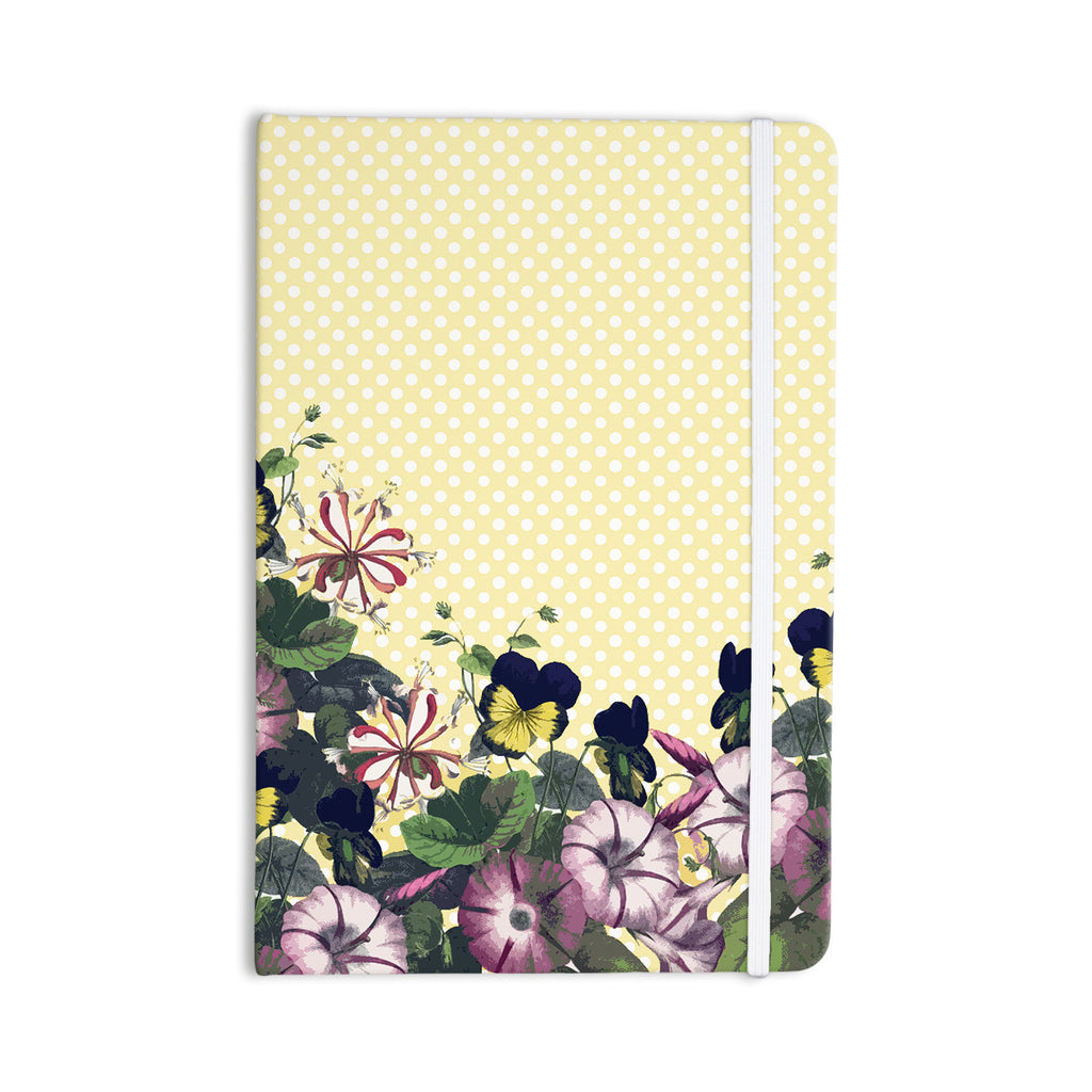 "Alison Coxon ""Polka Dot"" Purple Yellow Everything Notebook - KESS InHouse  - 1"