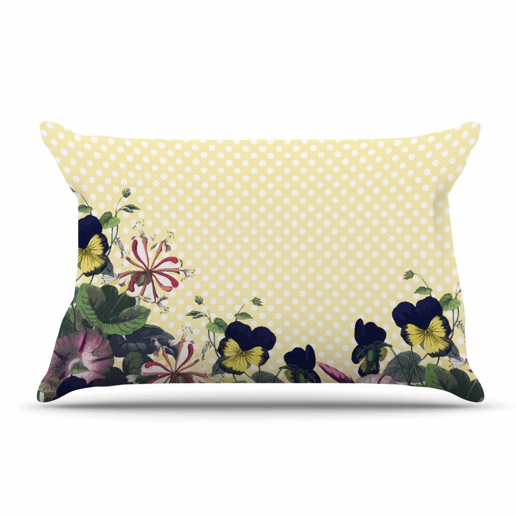 "Alison Coxon ""Polka Dot"" Purple Yellow Pillow Sham - KESS InHouse  - 1"