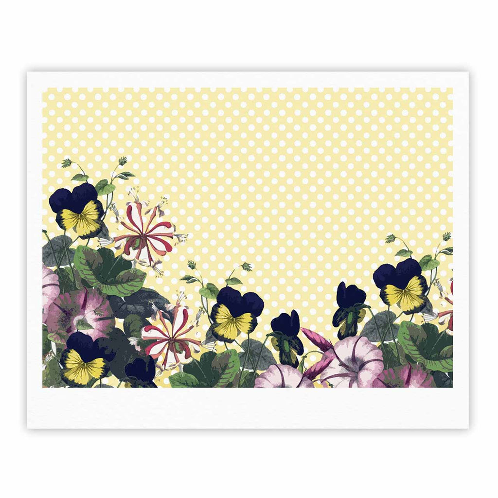 "Alison Coxon ""Polka Dot"" Purple Yellow Fine Art Gallery Print - KESS InHouse"