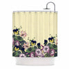 "Alison Coxon ""Polka Dot"" Purple Yellow Shower Curtain - KESS InHouse"