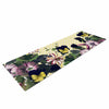"Alison Coxon ""Polka Dot"" Purple Yellow Yoga Mat - KESS InHouse  - 1"