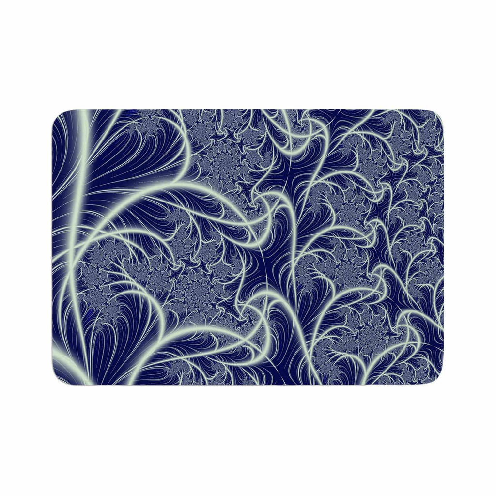 "Alison Coxon ""Midnight Dreams"" Blue White Memory Foam Bath Mat - KESS InHouse"