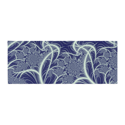 "Alison Coxon ""Midnight Dreams"" Blue White Bed Runner - KESS InHouse"