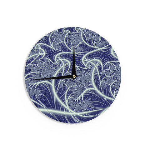 "Alison Coxon ""Midnight Dreams"" Blue White Wall Clock - KESS InHouse"