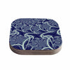 "Alison Coxon ""Midnight Dreams"" Blue White Coasters (Set of 4)"