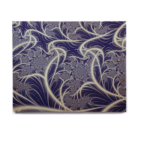 "Alison Coxon ""Midnight Dreams"" Blue White Birchwood Wall Art - KESS InHouse  - 1"