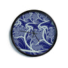 "Alison Coxon ""Midnight Dreams"" Blue White Modern Wall Clock"