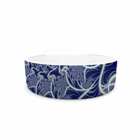 "Alison Coxon ""Midnight Dreams"" Blue White Pet Bowl - KESS InHouse"