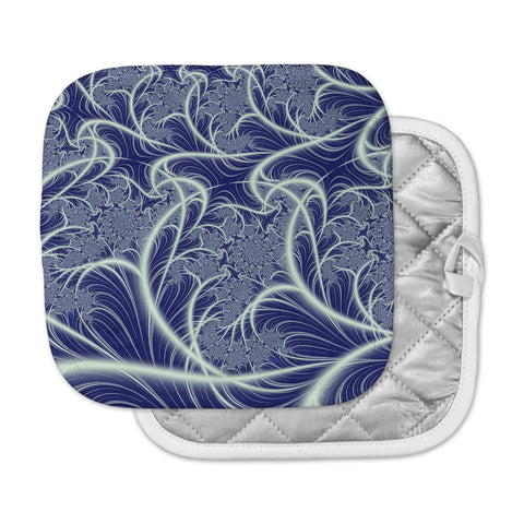 "Alison Coxon ""Midnight Dreams"" Blue White Pot Holder"
