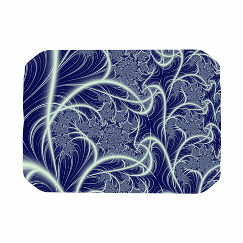"Alison Coxon ""Midnight Dreams"" Blue White Place Mat - KESS InHouse"