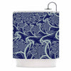 "Alison Coxon ""Midnight Dreams"" Blue White Shower Curtain - KESS InHouse"