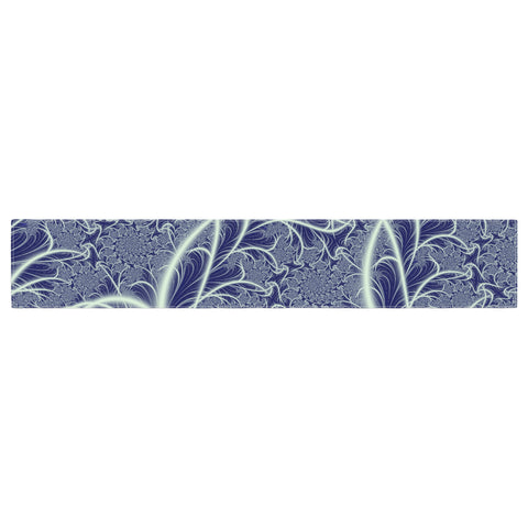 "Alison Coxon ""Midnight Dreams"" Blue White Table Runner - KESS InHouse  - 1"