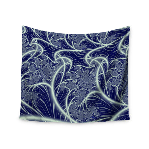 "Alison Coxon ""Midnight Dreams"" Blue White Wall Tapestry - KESS InHouse"