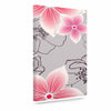 "Alison Coxon ""Grey And Pink Floral"" Grey Pink Canvas Art - KESS InHouse  - 1"