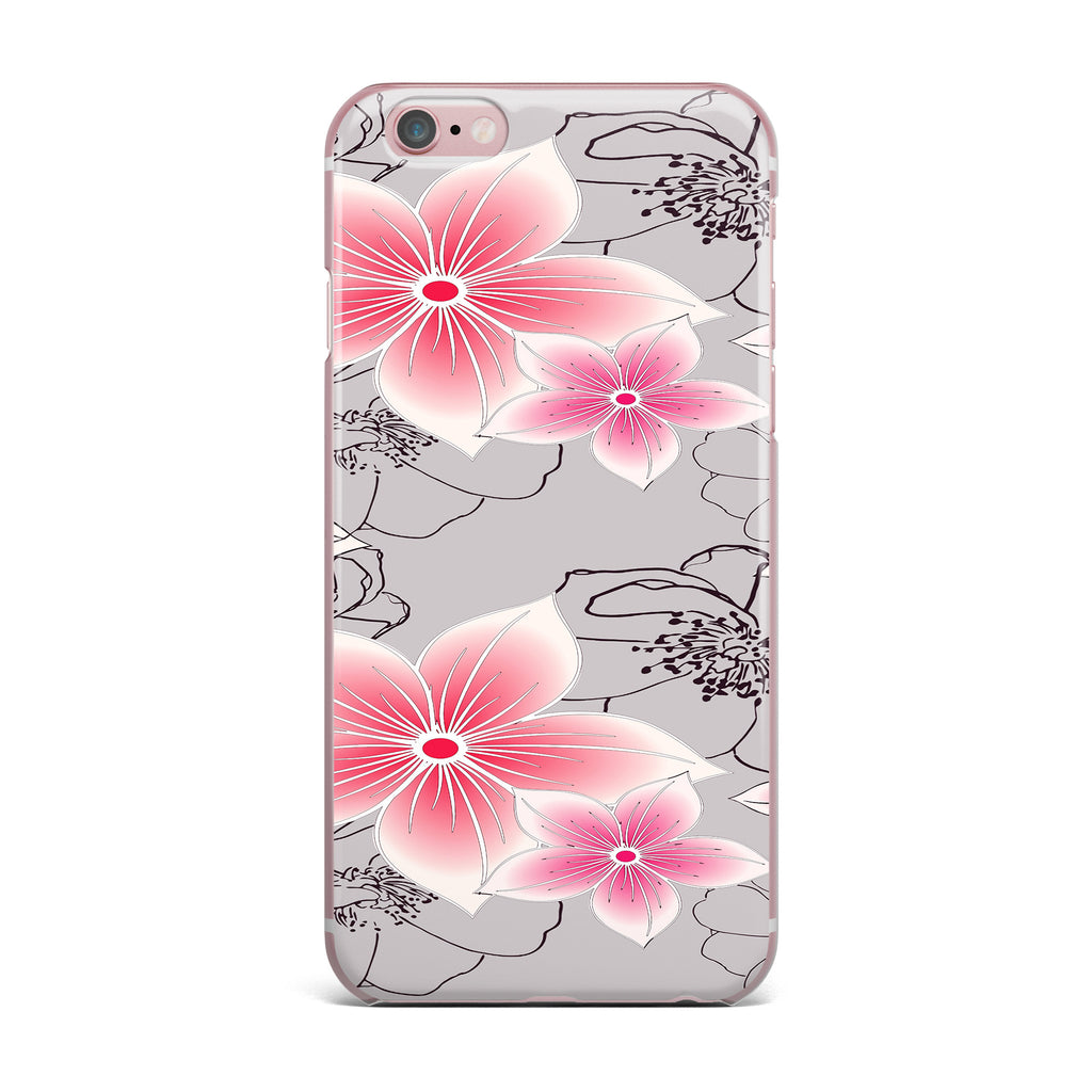 "Alison Coxon ""Grey And Pink Floral"" Grey Pink iPhone Case - KESS InHouse"