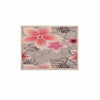 "Alison Coxon ""Grey And Pink Floral"" Grey Pink KESS Naturals Canvas (Frame not Included) - KESS InHouse  - 1"