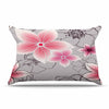 "Alison Coxon ""Grey And Pink Floral"" Grey Pink Pillow Sham - KESS InHouse  - 1"