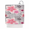 "Alison Coxon ""Grey And Pink Floral"" Grey Pink Shower Curtain - KESS InHouse"
