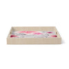 "Alison Coxon ""Grey And Pink Florals"" Grey Pink Birchwood Tray"
