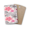 "Alison Coxon ""Grey And Pink Floral"" Grey Pink Rectangle Wooden Cutting Board"