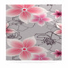 "Alison Coxon ""Grey And Pink Floral"" Grey Pink Luxe Square Panel - KESS InHouse  - 1"