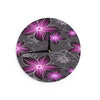 "Alison Coxon ""Charcoal And Amthyst"" Gray Purple Wall Clock - KESS InHouse"