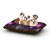 "Alison Coxon ""Charcoal And Amthyst"" Gray Purple Dog Bed - KESS InHouse  - 1"