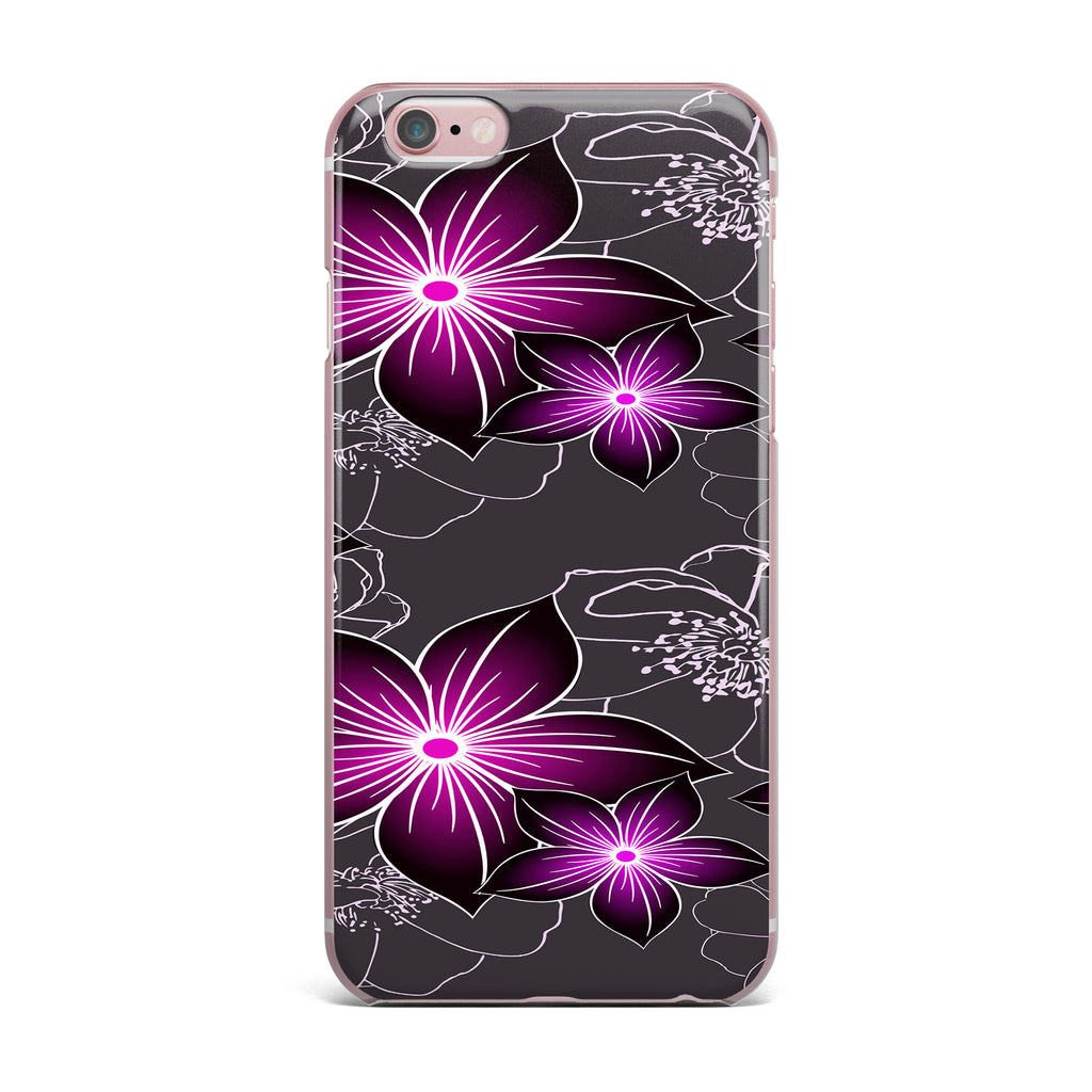 "Alison Coxon ""Charcoal And Amthyst"" Gray Purple iPhone Case - KESS InHouse"